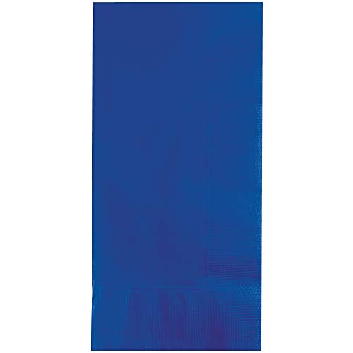100-Count 2-ply paper dinner napkins in cobalt blue