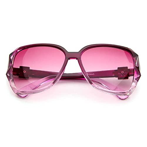 QiKun-Home Gafas de Sol de Metal Moda Mujer euroamericana Gafas solares Retro Gafas clásicas Gafas de Sol Casuales Morado