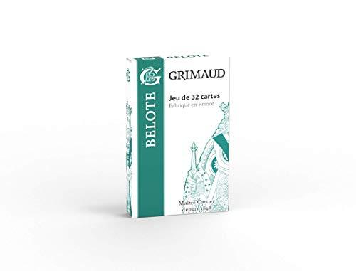 Grimaud Origine - Belote Jeu de 32 Cartes à Jouer, 184803