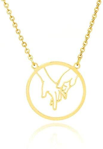 niuziyanfa Co.,ltd Collar para Mujeres Hombres Rock Roll Collar de Gestos con Las Manos Te Amo Collar de lenguaje de señas Collares Simples