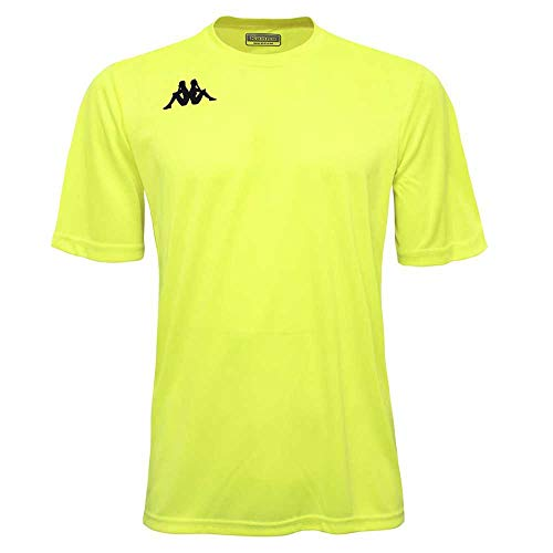 Kappa WENET Camiseta, Amarillo Flúor, Estándar para Hombre