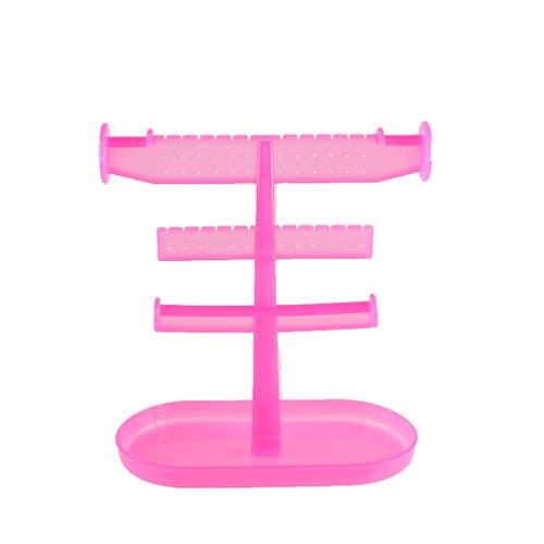 LIBILAA Créatif En Plastique Bracelet Bracelet Collier Bijoux Rack Finition Rack De Stockage Rack Petite Amie Amant Mère Noël Cadeau D'anniversaire (Couleur : Rose rouge)