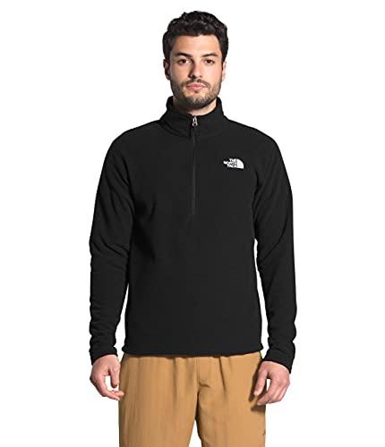 The North Face - Chaqueta con Textura Cap Rock para Hombres - Cremallera de Cuarto - Black, XL