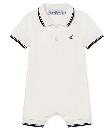 Petit Bateau Begonia Body, Blanc (Marshmallow 01), 80 (Taille Fabricant: 18M) Bébé garçon