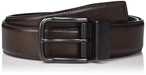 Perry Ellis Cartera Hombre Casual Marrón Reversible Cinturón 35mm, Marrón, 36