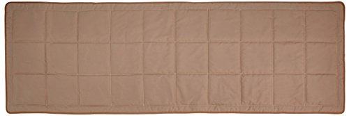 Linder 0509/28/851/70 Monaco Chemin de Lit Ouatiné Polyester/Coton Taupe 210 x 70 cm