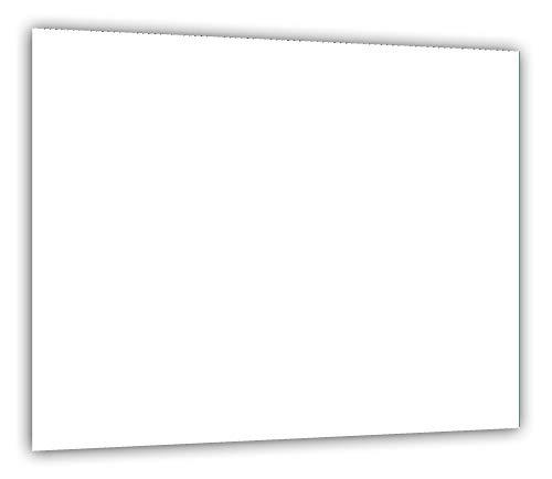 TMK | Herdabdeckplatte 60x52 Einteilig Glas | Elektroherd Induktion Herdschutz | Spritzschutz | Glasplatte Deko Schneidebrett | weiß