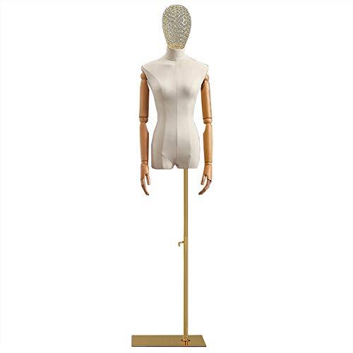Barture Maniquí De Costura Busto Maniquies Mujer Cabeza Hueca De Hierro Forjado Altura Ajustable 4 Colores Y 2 Bases Adecuado For Ropa Soporte De Exhibición (Color : C, Size : Square)