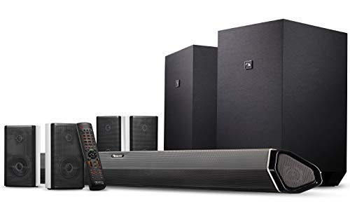 """Nakamichi Shockwafe Ultra 9.2.4 Ch 1000W Dolby Atmos Soundbar with Dual 10"""" Subs (Wireless), Four 2-Way Rear Speakers & Dolby Vision"""