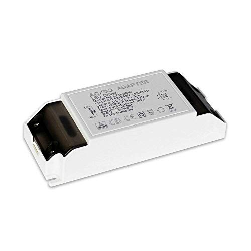 GVOREE LED Transformador 220V a 12V Trafo 36W 3A LED Driver Fuente de Alimentación para Bajo Voltaje Bombillas G4,MR16,GU5.3,MR11,Tira LED
