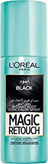 L'Oreal Paris Magic Retouch Instant Root Concealer, Black - 75 ml