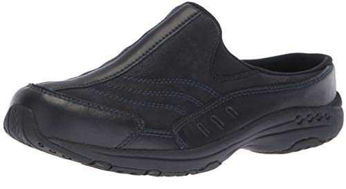 Easy Spirit Women's Traveltime 234 Clogs, Navy Leather, 9