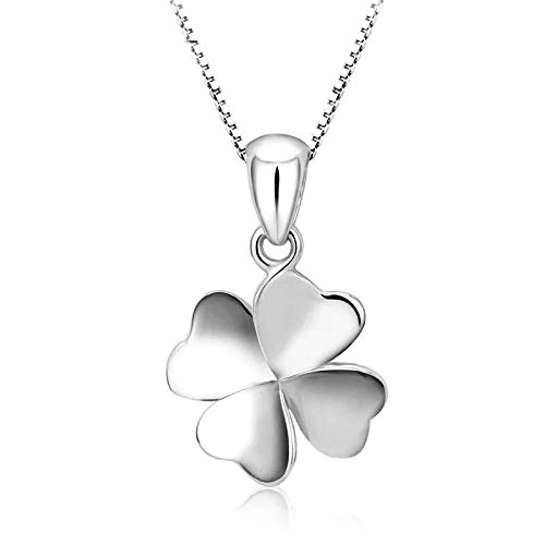CXVXC necklace,Four Leaf Clover Pendant,It can be used as a gift for family, lovers, friends and other occasions. Size about 50CM