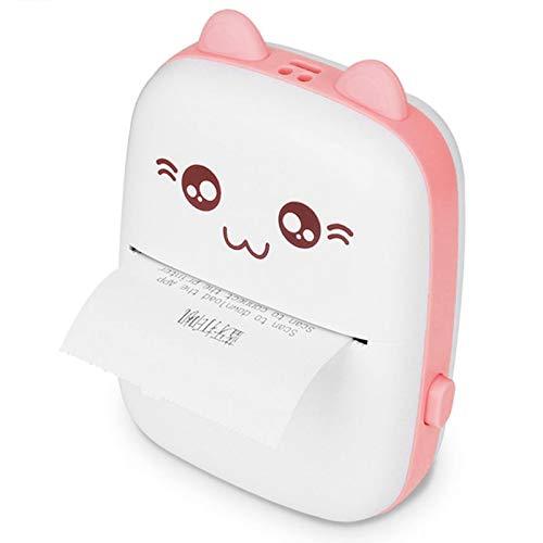 Mini impresora fotográfica, impresora fotográfica instantánea Impresora fotográfica inalámbrica, al aire libre para viajes(Pink)