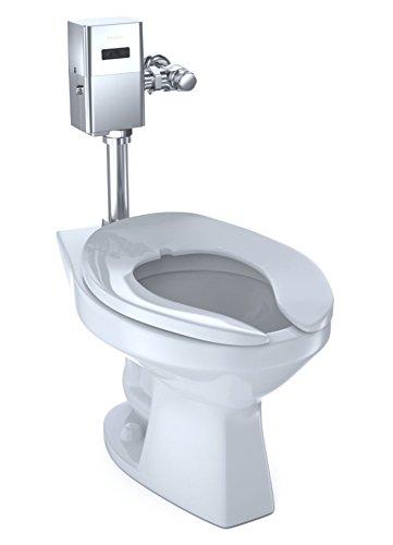 TOTO CT705UN#01 Elongated 1.0 GPF Floor-Mounted Flushometer Toilet Bowl with Top Spud, White-CT705UN, Cotton White