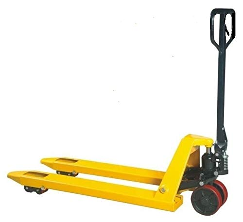 Pallet Jack 5500 LBs 27x48 Dual Double Tandem 2 Poly Load Front Wheels Pallet Truck
