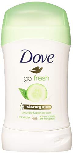 Dove Go Fresh Cucumber & Green Tea Scent, Antiperspirant & Deodorant Stick, 1.4 Oz/40 Ml (Pack of 4)
