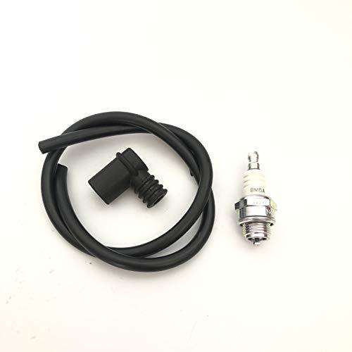Kit bujía NGK BM6A + pipa de silicona antiagua + cable de bujía para mini moto o para motores agrícolas