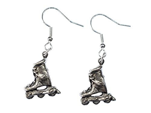 Miniblings Inlineskates Ohrringe Rollerskates Skates Rollschuhe Skater silber - Handmade Modeschmuck I Ohrhänger Ohrschmuck versilbert