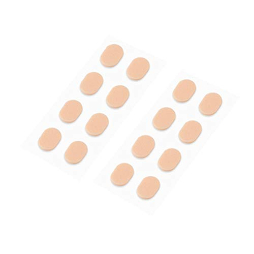 Healifty 10 pares de almohadillas nasales de espuma suave almohadillas antideslizantes autoadhesivas para gafas de sol con gafas (color de piel 1.0 mm)