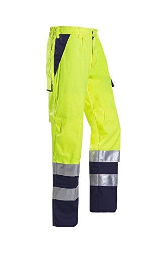 SIOEN 013VN2PFA049R60 Royan Warnhose mit ARC-Schutz, Regular 60, gelb/navy