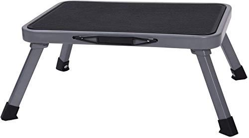 YF Taburete plegable portátil, escalón de acero ligero con