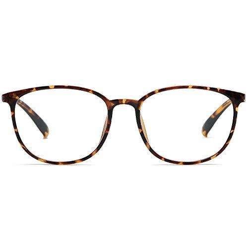 Blue Light Blocking Glasses for Women Men Anti Eyestrain Lightweight TR90 Computer Glasses Anti-Glare