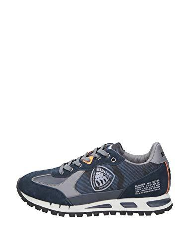 Blauer Scarpe Uomo Sneakers in camoscio Blu F0MUSTANG04-CAM-NVY