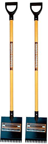 Shingle Stripper Fiberglass XL: (2 Pack) by MBI Tools - Roof Tear Off Shingle and Nail Removal Tool