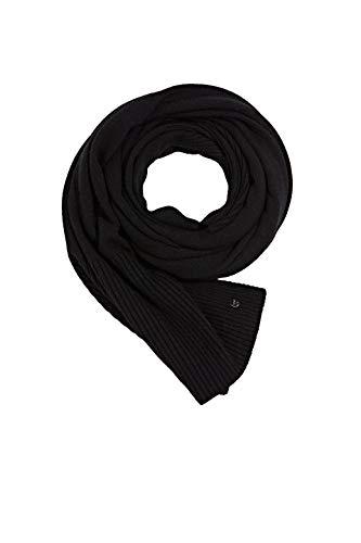 ESPRIT Accessoires Damen 990EA1Q311 Mode-Schal, 001/BLACK, Einheitsgröße