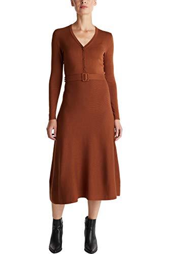 Esprit 090eo1e304 Vestido, 225/Caramelo, S para Mujer