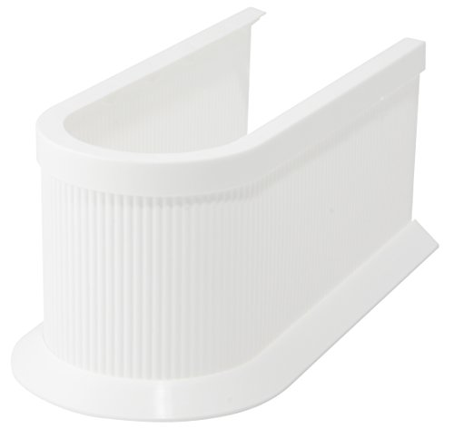 Fackelmann Siphonabdeckung, Rohrverkleidung für Waschbeckenunterschränke - zuschneidbar in Höhe und Länge (Farbe: Weiß), Menge: 1 Stück