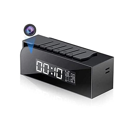 Slkon | Cámara de alarma espía WiFi Full HD acceso remoto a través de la aplicación gratuita – Visión nocturna – Detección de movimiento