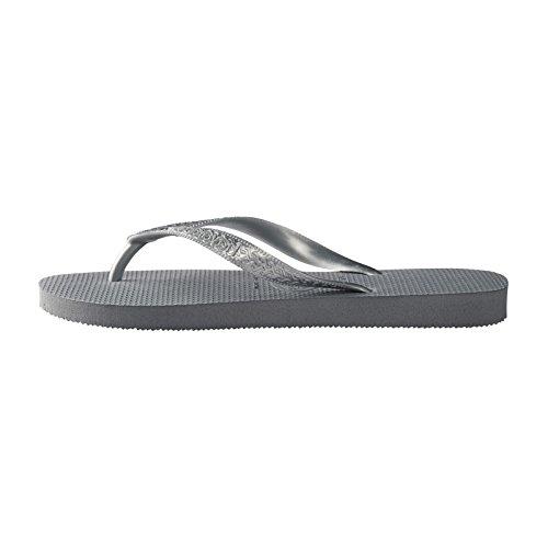 Havaianas Damen Top Tiras Zehentrenner, Grey (Steel Grey), 39/40 EU