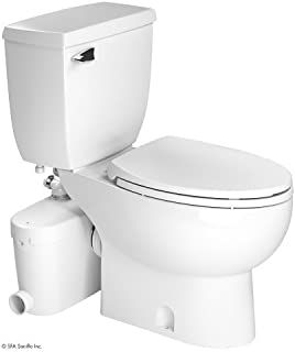 SANIFLO SANIACCESS 3 UPFLUSH MACERATOR PUMP + ELONGATED TOILET KIT, WHITE FINISH