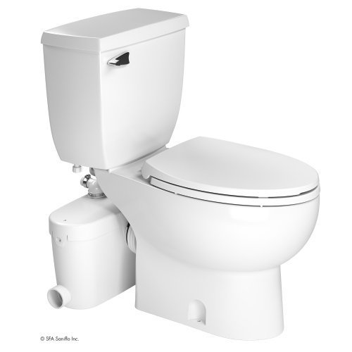 SANIFLO SANIACCESS 3 UPFLUSH MACERATOR PUMP + ELONGATED TOILET KIT