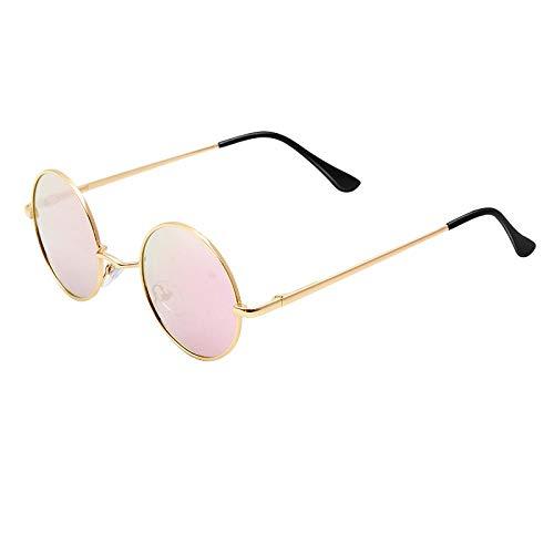 Occhiali da Sole Sunglass Occhiali da Sole Polarizzati Rotondi Classici Vintage Uomo Designer di Marca Occhiali da Sole Donna Montatura in Metallo Lenti Nere Occhiali da Vista Driving C2