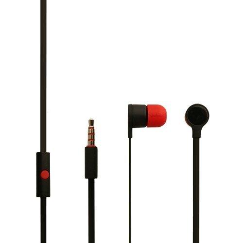 Original HTC One S cuffie 39H00014 - 00M per Desire SV in nero rosso in-Auricolari Stereo con cavo piatto 3,5 mm spina