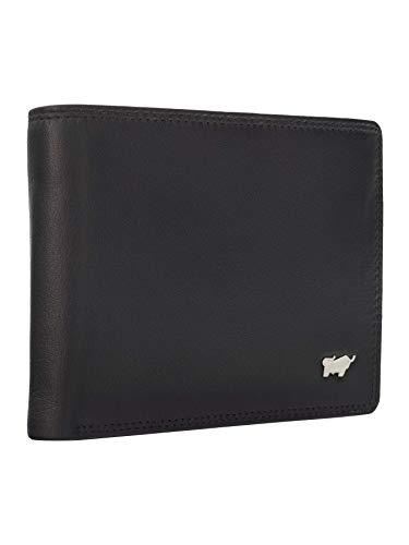 BRAUN BÜFFEL Geldbörse Golf 2.0 - aus echtem Leder - 8 Fächer Schwarz