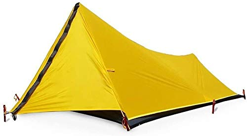 Lhak Portable outdoor tent Hiking camping tent outdoor shelter net mosquito repellents Guard is easy to set up picnic backpack (Color : Yellow)