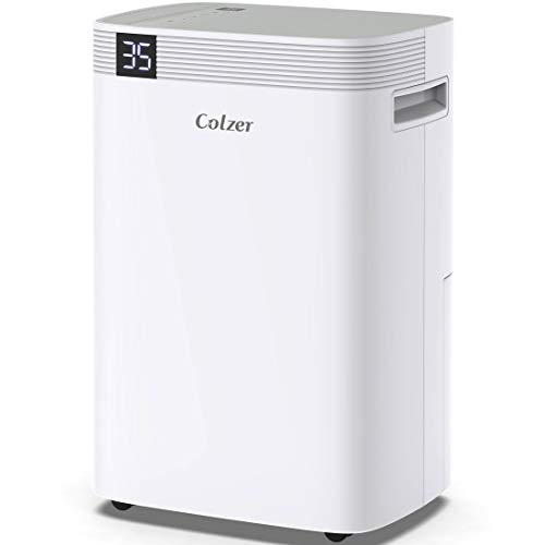 COLZER 50 Pint Dehumidifiers for 3500 Sq Ft Home Basements, Garage, Humid Bathroom, Laundry Room, Grow Room, with Drain Hose for Continuous Drainage