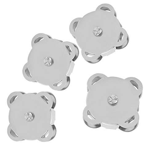 Pssopp 10 Piezas/Juego de broches magnéticos para Coser Botones magnéticos para Coser y Reparar Ropa Carteras Bolsos y Manualidades proyectos de Bricolaje Peso Ligero(Blanco Brillante)