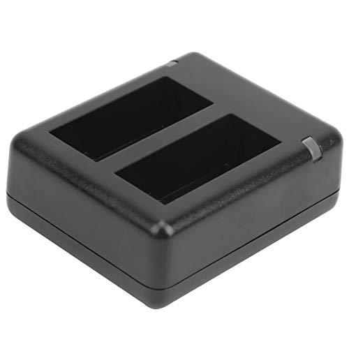 Deryang Cargador de batería de Doble Puerto, Cargador de batería Ligero, Accesorios de cámara para batería de cámara Gopro 9