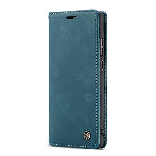 JMstore hülle kompatibel mit Xiaomi Redmi K30 Pro/Poco F2 Pro, Leder Flip Schutzhülle Brieftasche Handyhülle mit Kreditkarten Standfunktion (Blau)