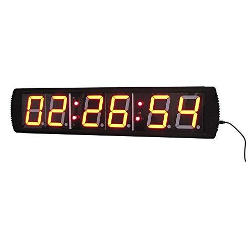 WyaengHai Countdown-Uhr 4-Zoll-Intervall-Timer Uhr Countdown Fitness-Training Fitnessraum Mit Fernbedienung Geeignet für Fitness-Studio Fitness (Farbe : Schwarz, Größe : 69X16X4CM)