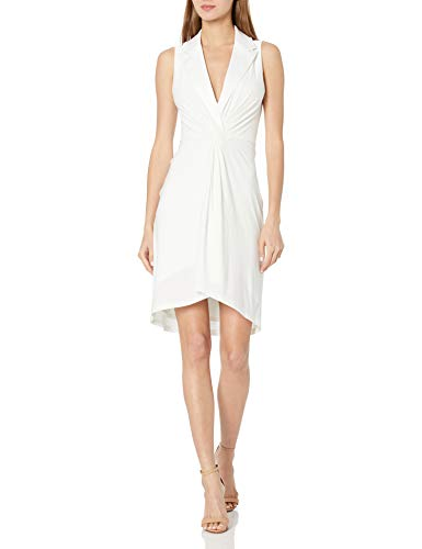 BCBGMAXAZRIA Women's Cocktail Short Dress, Off White, X-Small
