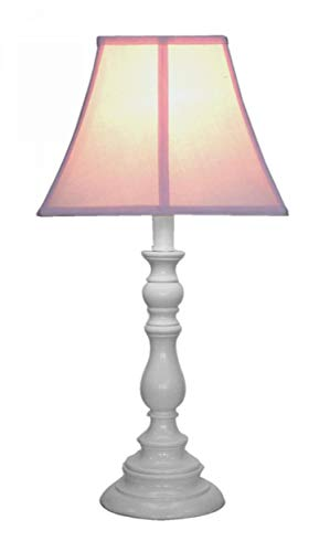 Creative Motion White Base Resin Table Lamp, Pink