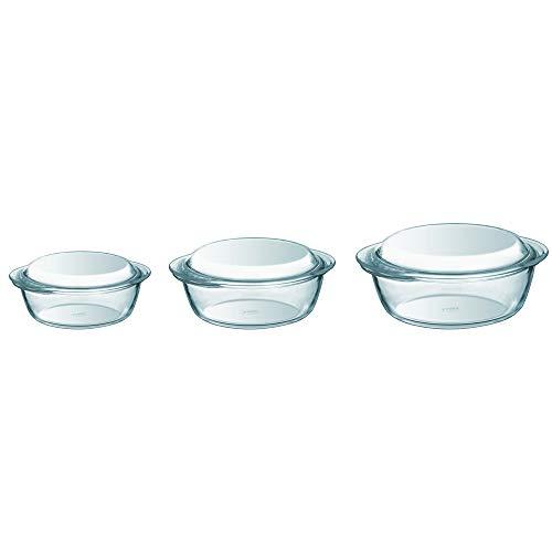 Pyrex Schmorpfannen-Set, Borosilikatglas, 3-teilig