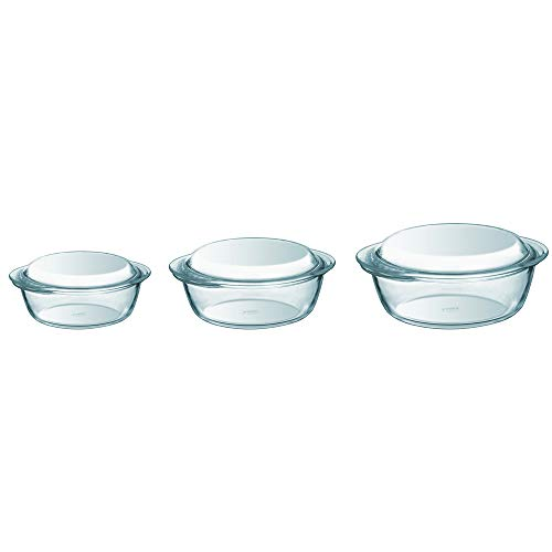 Pyrex - 912S637/5042 - Essentials Lot de 3 cocottes en...