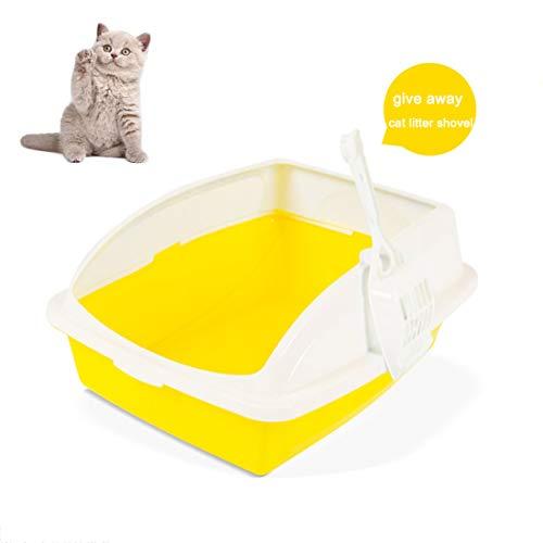 GLZKA kattenbak met velgspetter, halfgesloten deodorant kat, wc-zandbak, gemakkelijk schoon te maken kattenbenodigdheden